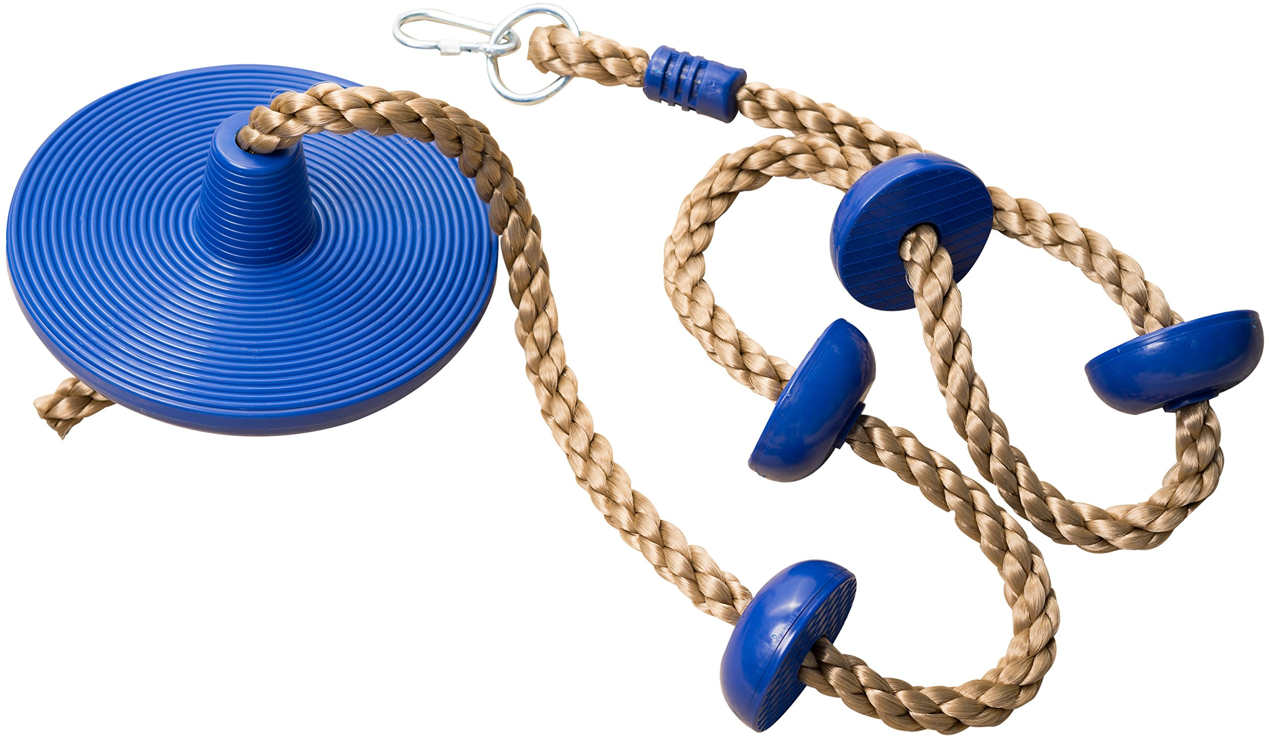 Jungle Gym Kingdom Climbing Rope with Platforms and Disc Swing Seat Blue - Swing Set Accessories