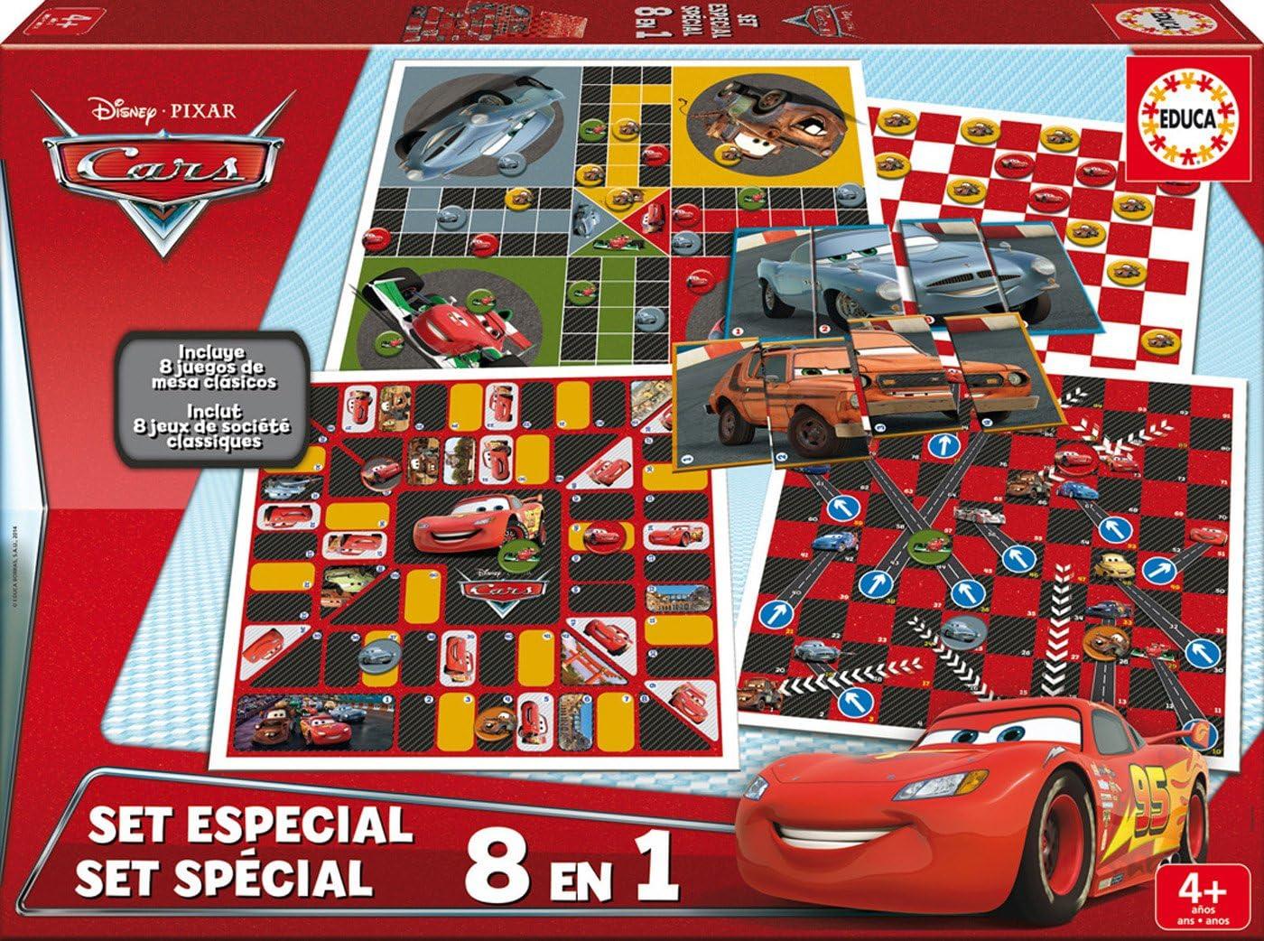 Educa Borrás Coffret Jeux Société Cars, 26.7 x 26.7 x 4.1 (16388 ...