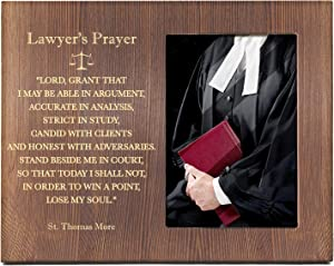 Ku-dayi Thomas Jefferson Quote Engraved Wood Photo Picture Frame - Inspirational Law School Gift - Lawyer Gift - Law Office Decor - Gift for Law Students Lawyer
