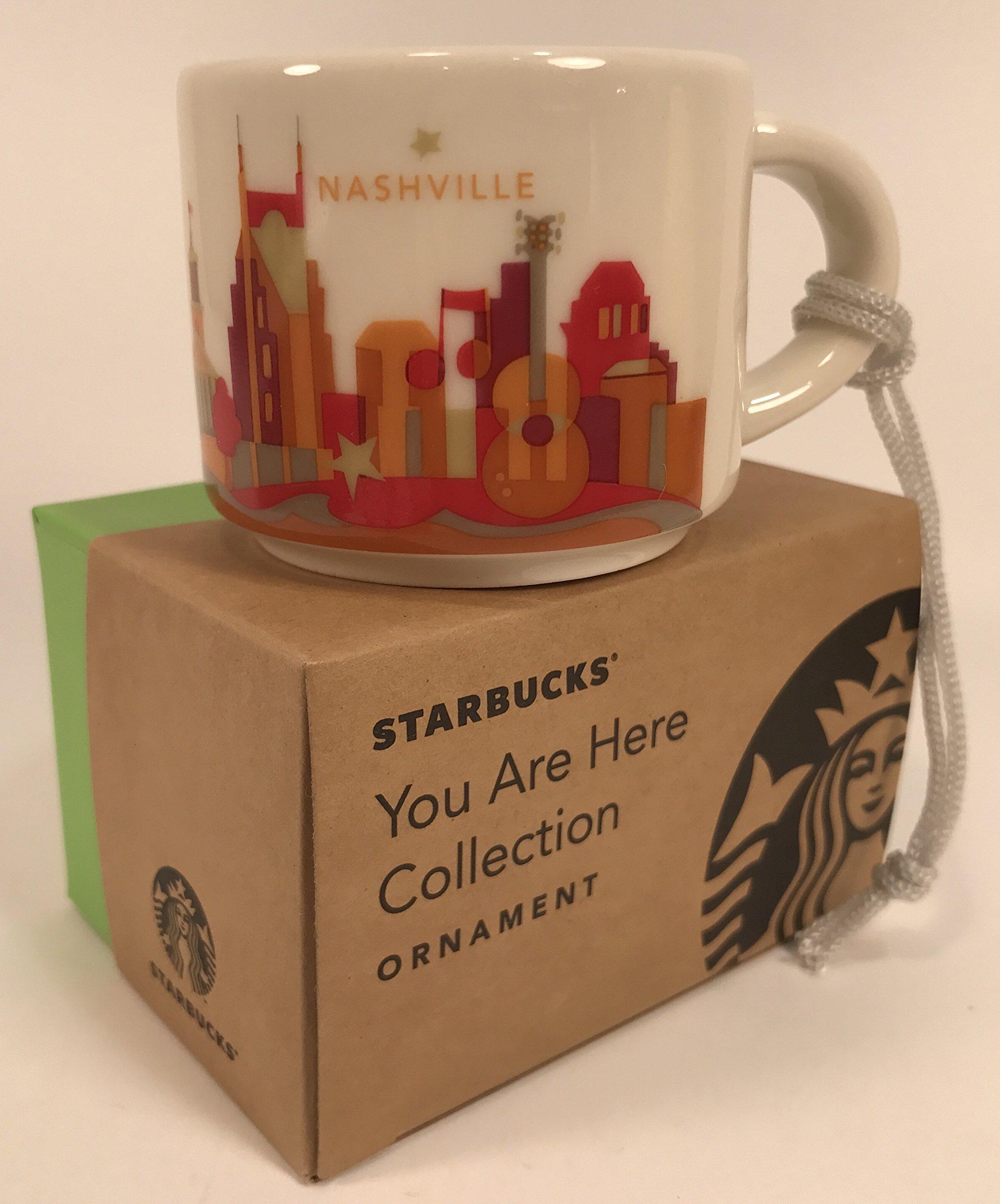 Starbucks Nashville You Are Here Collection Ceramic Coffee Mug Demitasse Ornament 2 oz