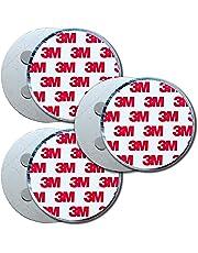 HaftPlus - 3x Fixation pour détecteur de fumée, Adhésif magnétique, Ronde Fixation aimantée 4 aimants - Ø 70mm