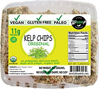 product image for Wrawp Organic Kelp Seaweed Snacks Made with Brown Seaweed | Lightly Salted and Roasted Seaweed Chips | Non-GMO, Paleo, Vegan and Gluten Free (Original)