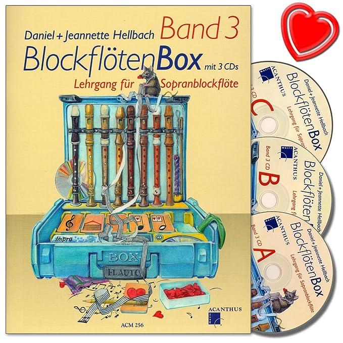 Flûte à bec Box bande 3 - Flûte à bec école avec 3 CD de Daniel ...