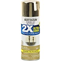 6-Pack Gold Rust-Oleum American Accents 2X Ultra Cover Metallic Spray Paint, 11 oz (Gold)