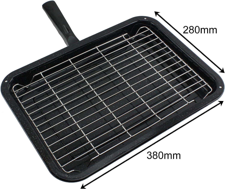 spares2go Smallグリルパン、ラック&取り外し可能ハンドルfor AEGオーブン調理器