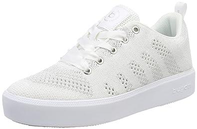 Bugatti 421407046969, Sneakers Basses Femme, Blanc (White/Silver), 37 EU