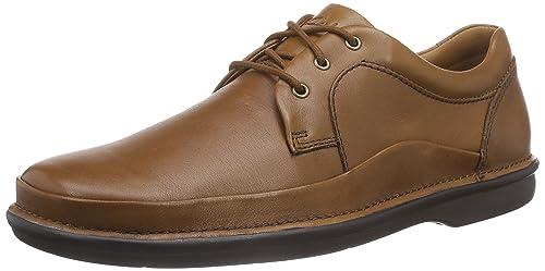 Clarks Butleigh Edge - Scarpe Stringate Uomo, Marrone (Tan Leather), 41 EU