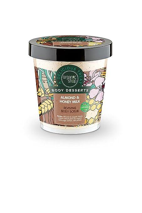 Organic Shop Exfoliante Corporal Estimulante Almendra y Leche de Miel - 450 ml