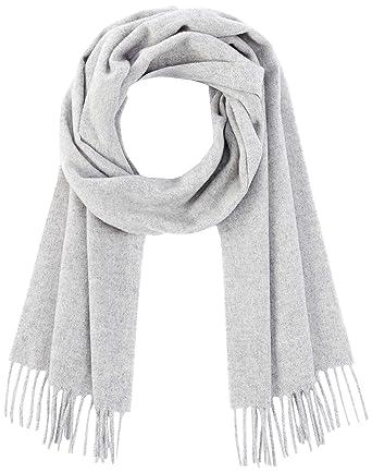 d51743e200 GANT Damen Solid Lambswool Woven Scarf Schal, Grau (Light Grey Melange), One