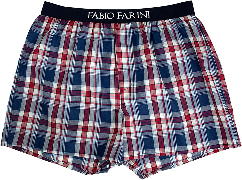 Fabio Farini Paquete de 4 Calzoncillos Boxer Hombre 100/% algod/ón