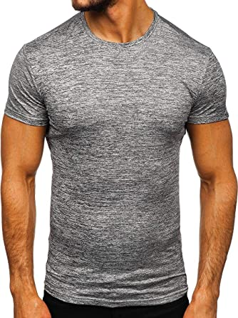 BOLF Hombre Camiseta de Manga Corta Básica Escote Redondo Estilo Diario 3C3: Amazon.es: Ropa y accesorios