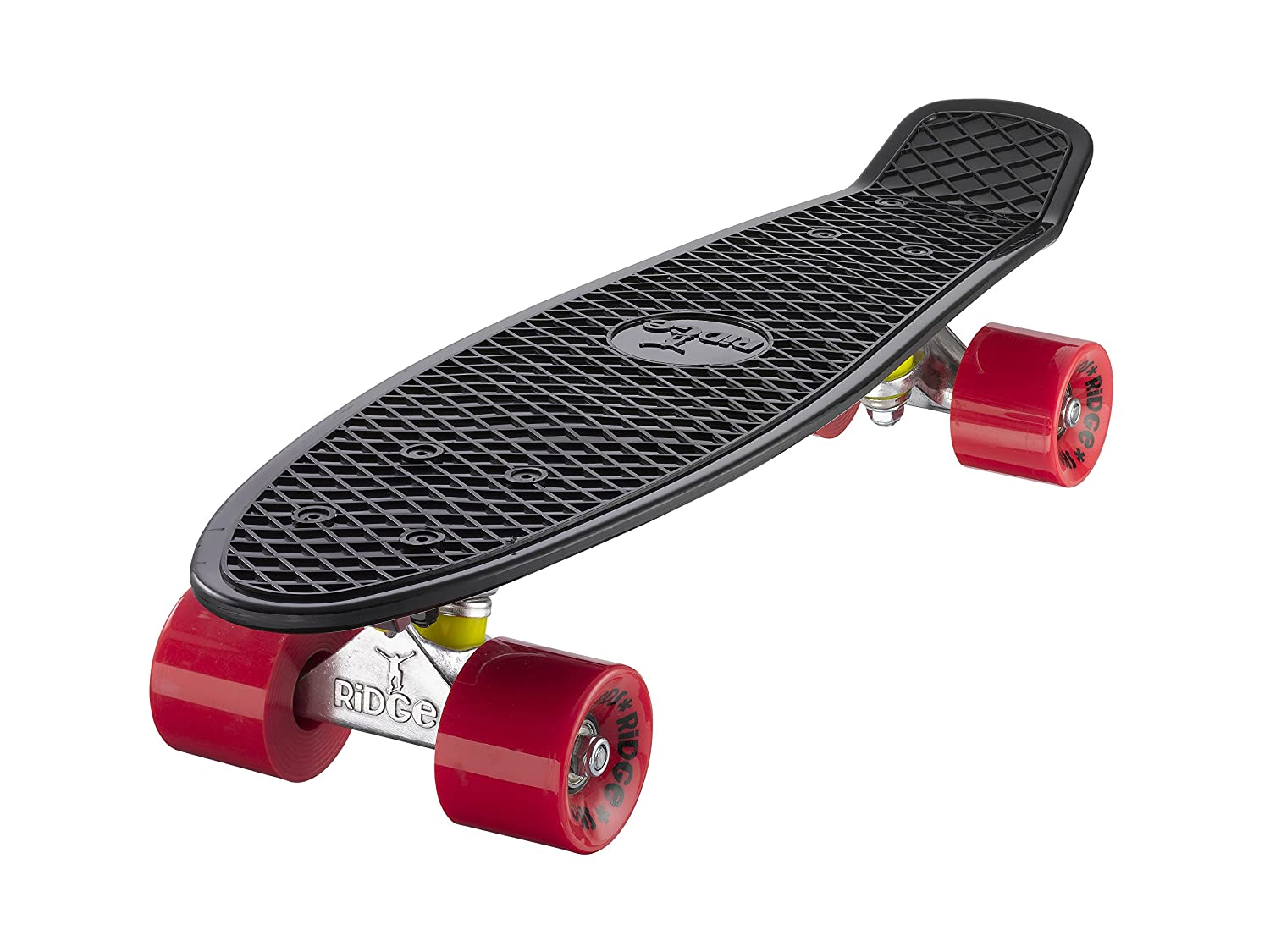 Ridge Retro Skateboard color negro y rojo cm