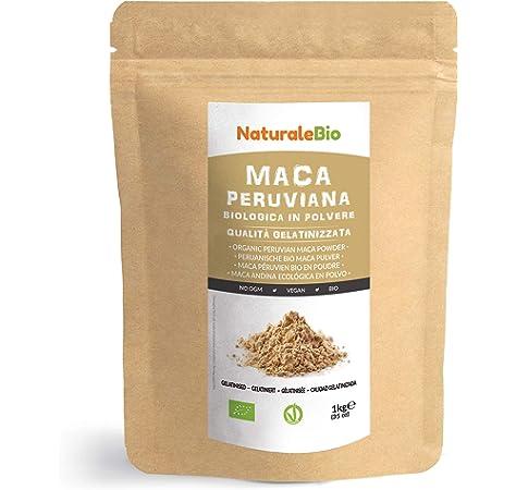 Maca Andina Ecológica en Polvo [ Gelatinizada ] 1 kg. Organic Maca Powder Gelatinized. 100% Peruana, Bio y Pura, viene de raíz de Maca Organica. NaturaleBio: Amazon.es: Salud y cuidado personal