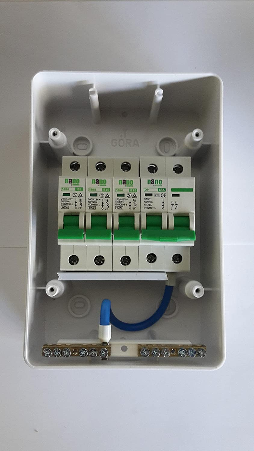 3 Way Garageshed Consumer Unit Fuse Box63a Isolation Switch And Shed Box