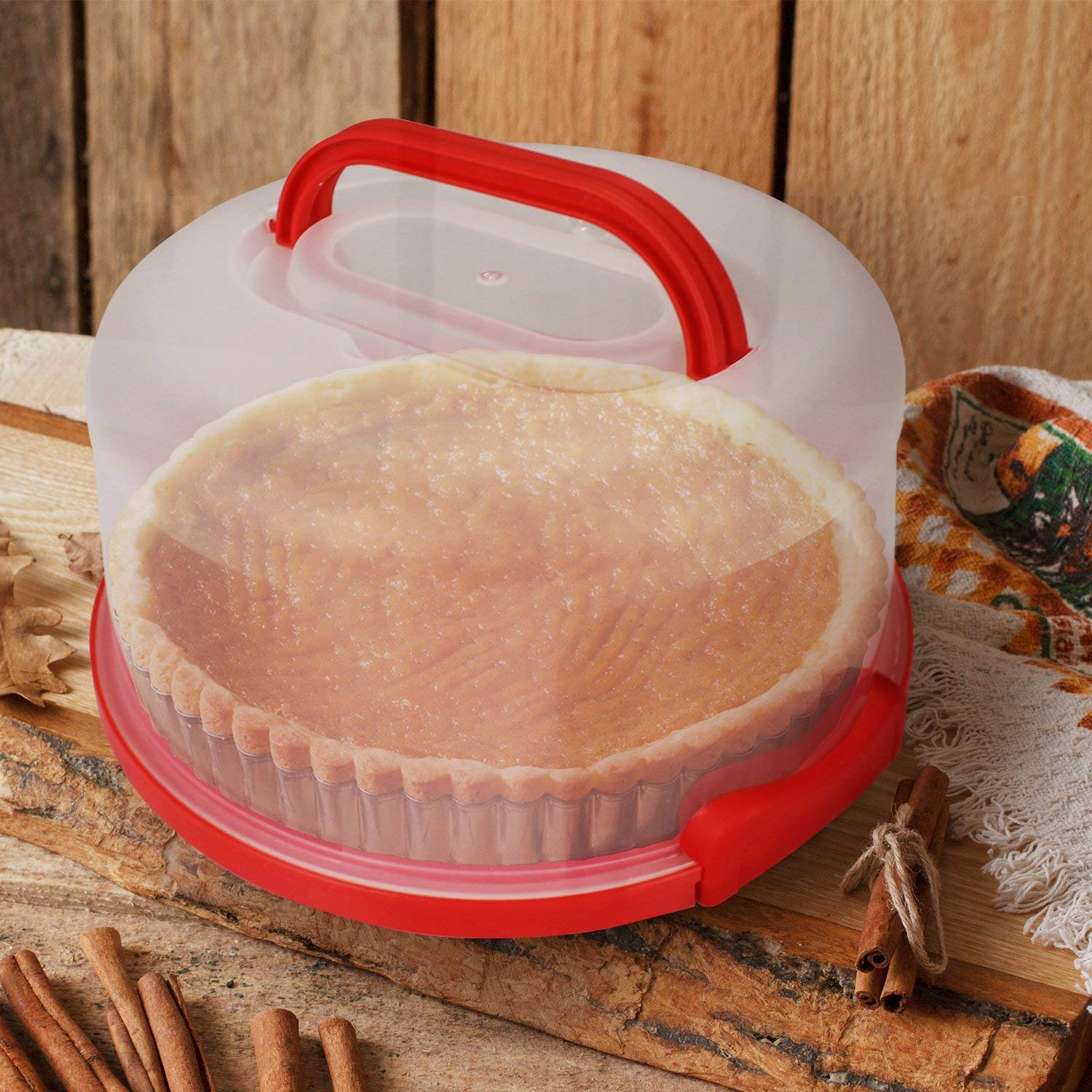 Cake Carrier by Sweet Course Official 12'' Large Round Container by Sweet Course (Image #3)