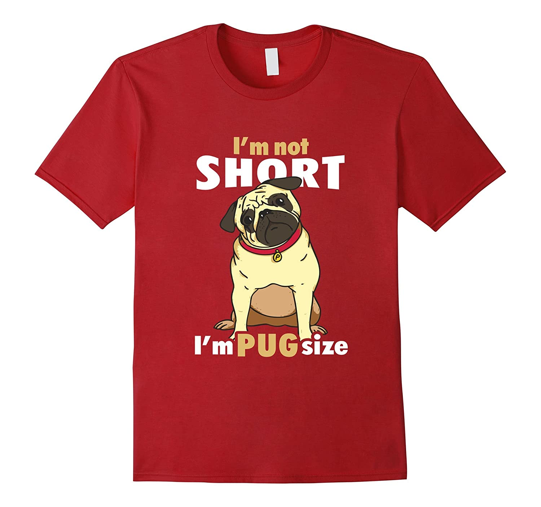 Amazoncom Im Not Short Im Pug Size P Funny T Shirt For Boys