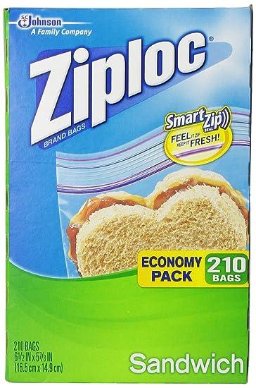 Ziploc Economy Pack Sandwich Bag, 210 Count