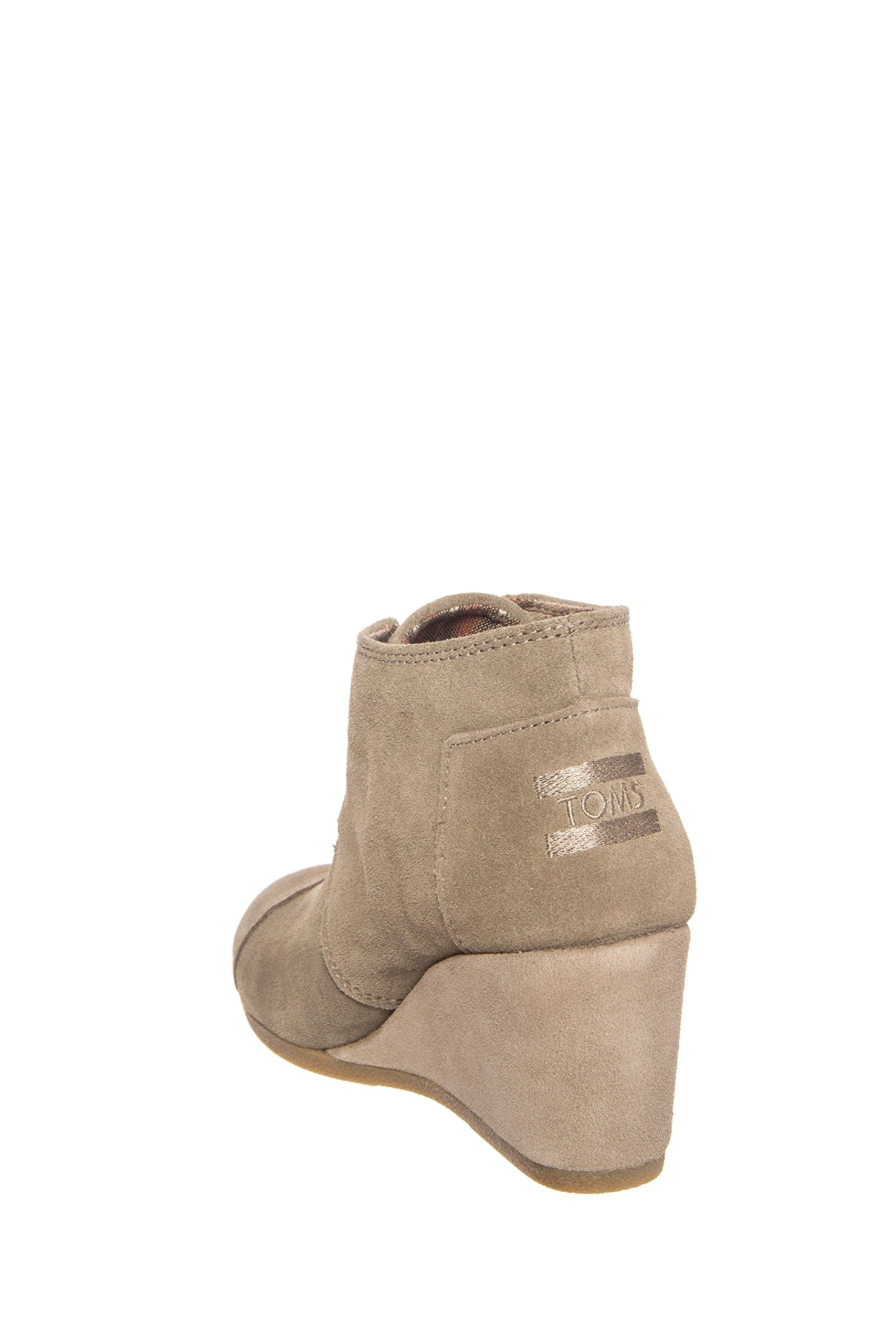 a5397e0982e0d Toms Womens Desert Wedge Boot Taupe Suede Size 10