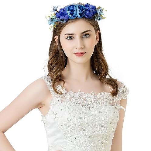 Cerchietto fiori awaytr matrimonio capelli corona floreale corona