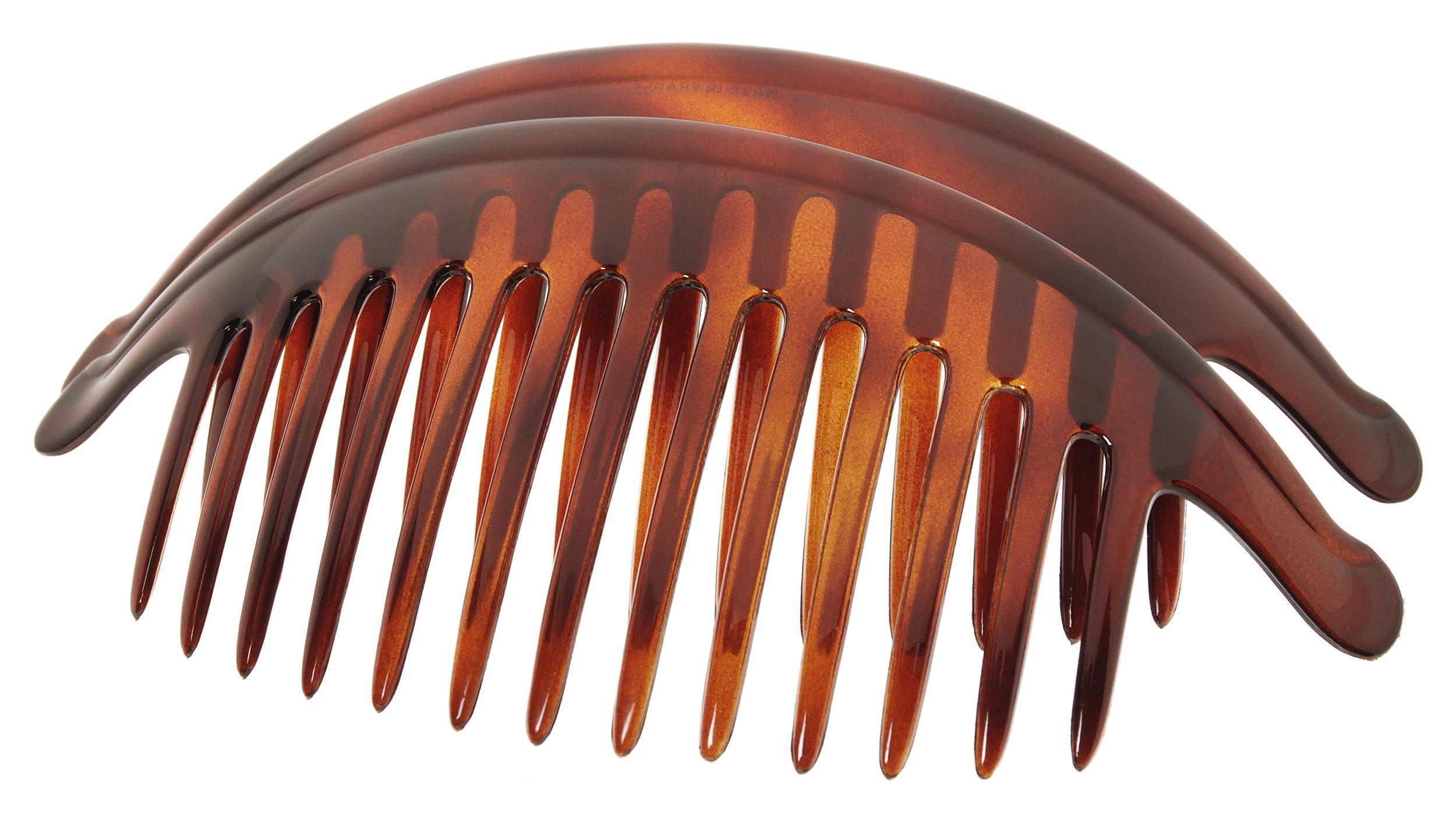 France Luxe Belle Large Interlocking Comb Pair - Tortoise