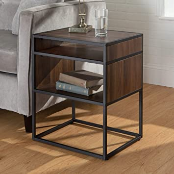 Amazon.com: Walker Edison 20 metal y mesa auxiliar de madera ...