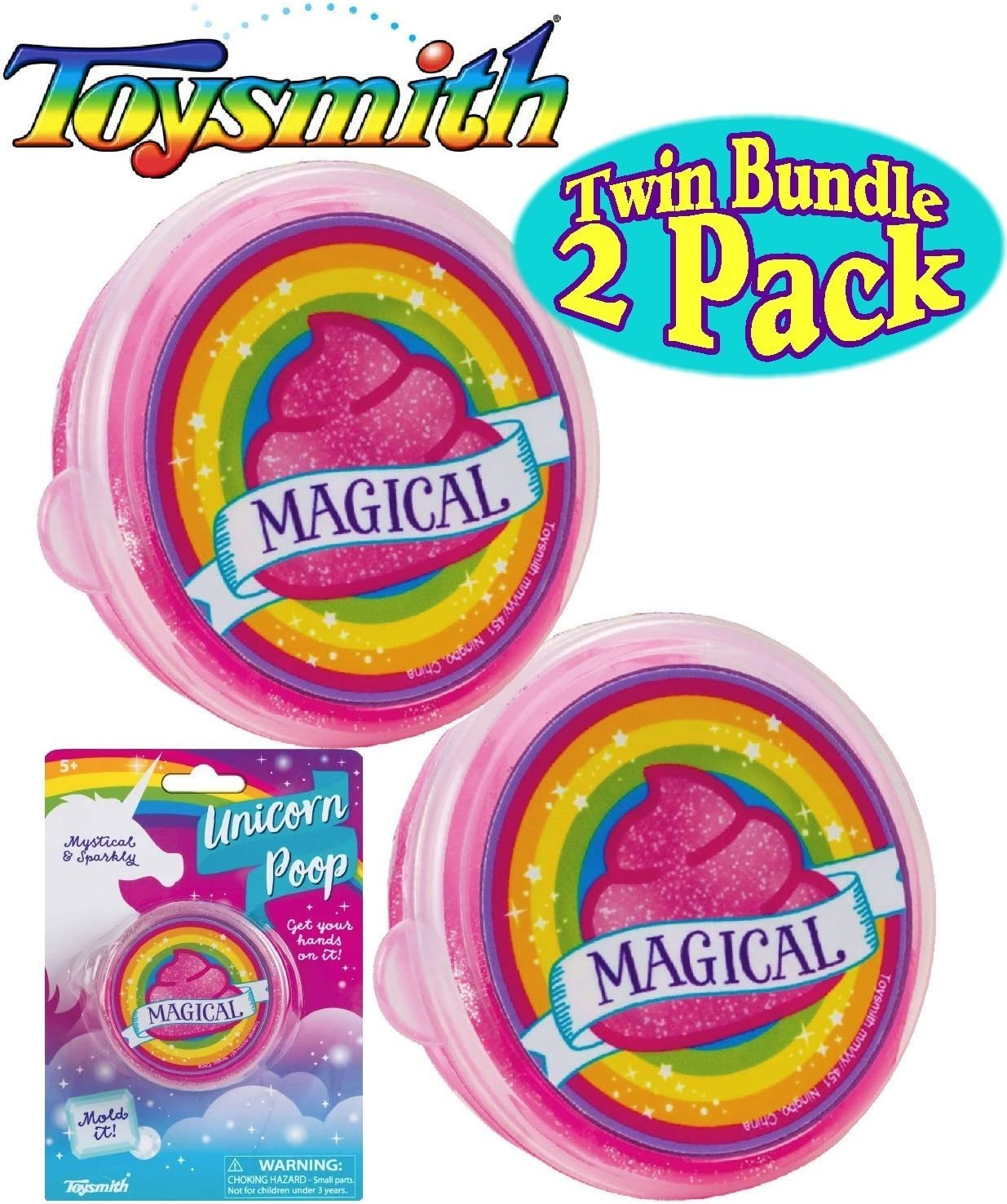 Mɑttys Toy Stop Toysmith Grow-A-Unicorn Gift Set Bundle 2 Pack