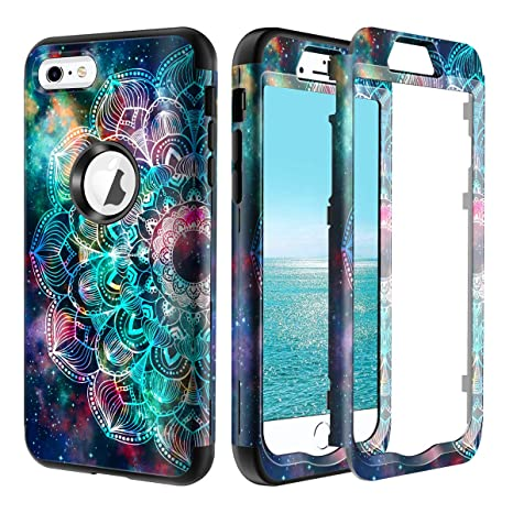 Lamcase for iPhone 6s Plus Case, iPhone 6 Plus Case Shockproof Hard PC & Flexible Silicone High Impact Durable Bumper Armor Protective Case Cover for ...