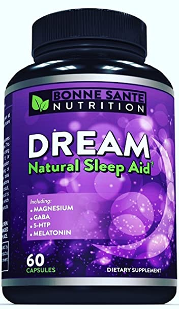 Dream- Natural Sleep Aid - Includes Magnesium - GABA - 5-HTP - Melatonin
