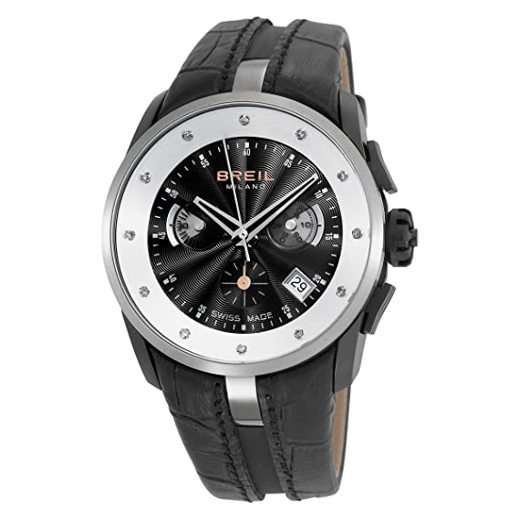 Breil Milano BW0435 - Reloj de mujer de cuarzo, correa de piel color negro