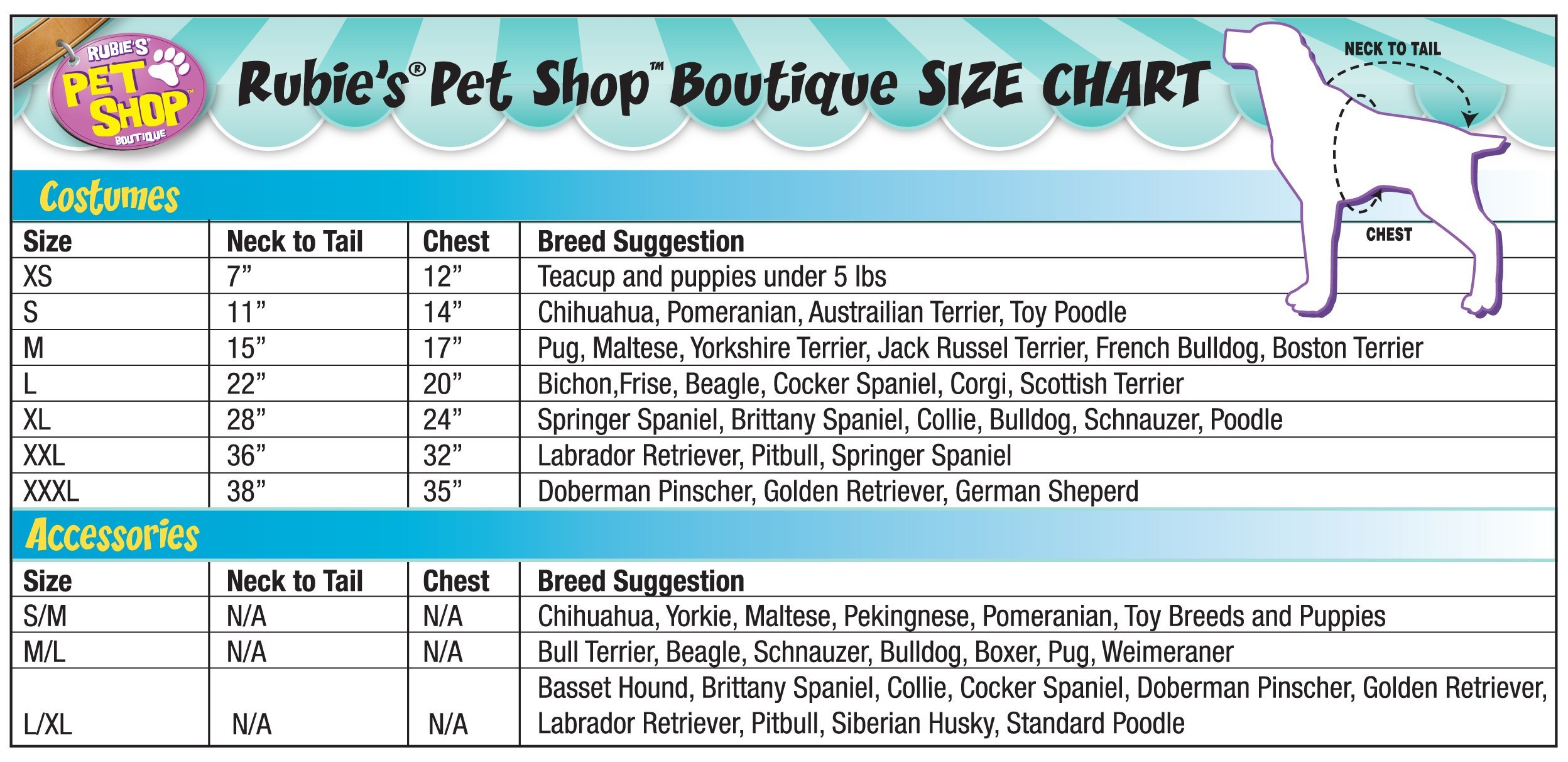 Rubie's Gangster Pet Costume, X-Large