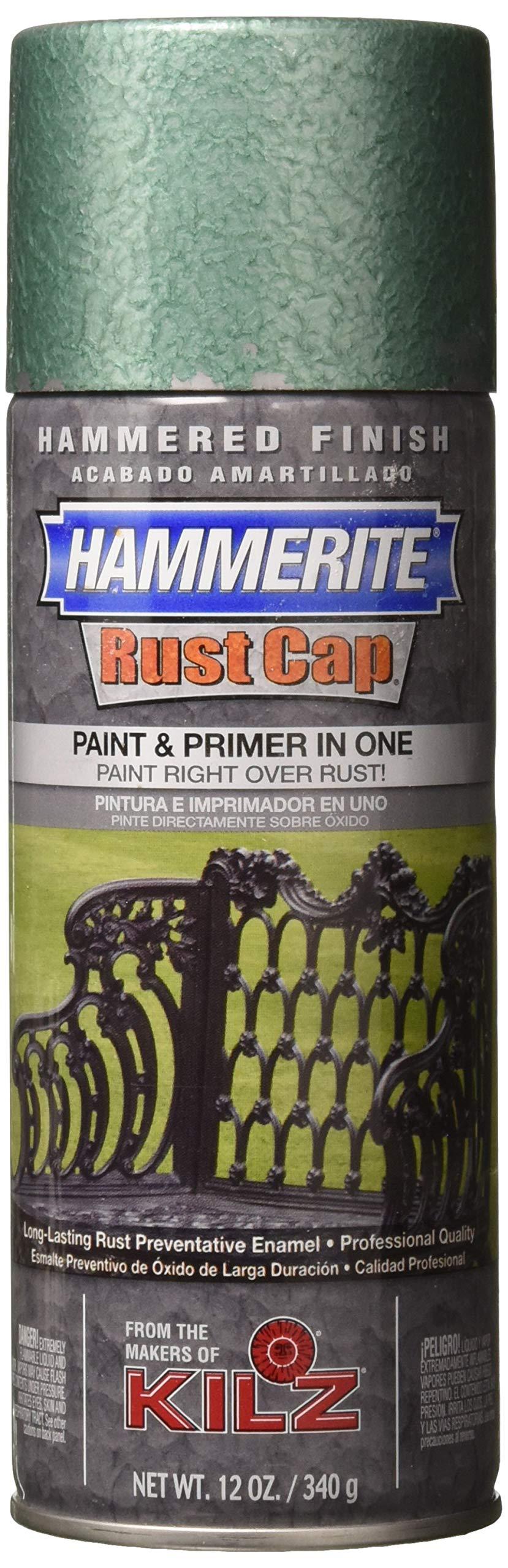 Hammerite Rust Cap 2668 41175 Enamel, 12 Oz Aerosol Can, 18 Sq-Ft/Gal, Mid, Hammered Finish