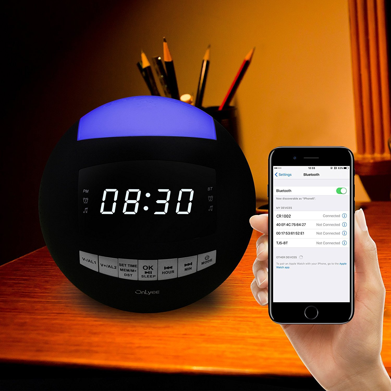 OnLyee Bluetooth Alarm Clock Radio