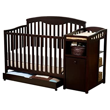 Amazon Com Delta Children S Products Cambridge Crib N Changer Espresso Cherry Discontinued By Manufacturer Convertible Cribs Baby