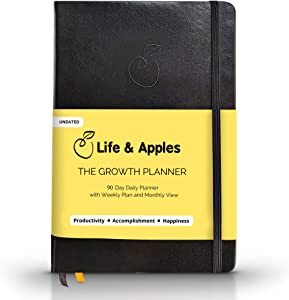The Growth Planner - Daily Planner Journal for Productivity and Focus - Get Organized and Achieve Your Goals in 2020 - Undated