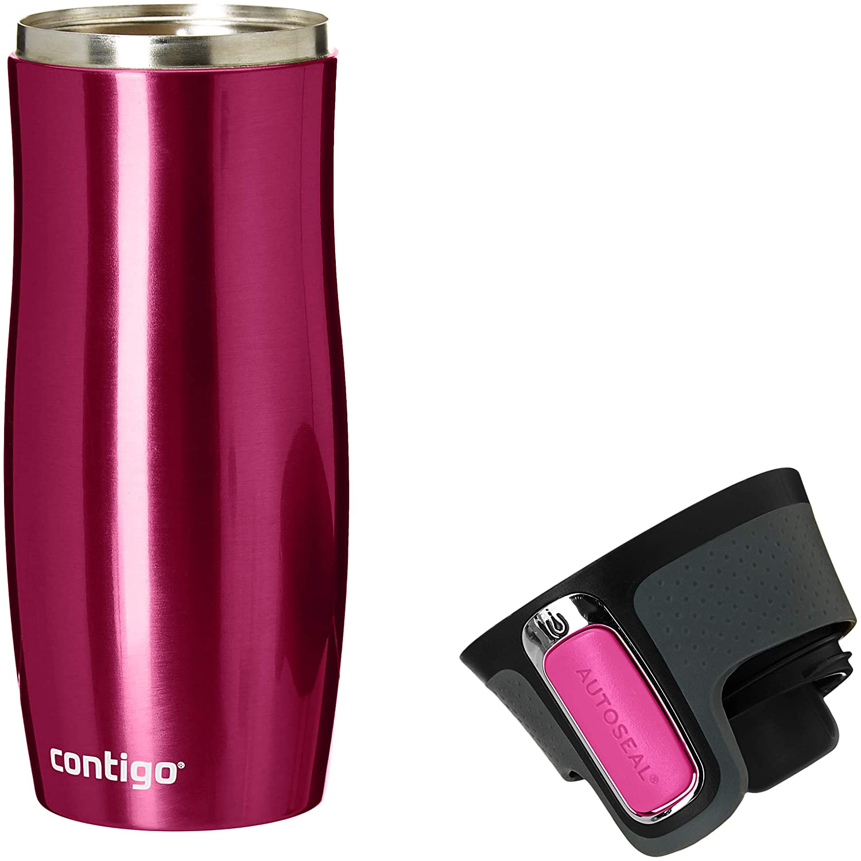 b44257da033 Contigo Autoseal West Loop Stainless Steel Travel Mug, 470 ml - Raspberry