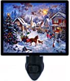 Christmas Night Light - Merry Christmas - Horse and Carriage - LED NIGHT LIGHT