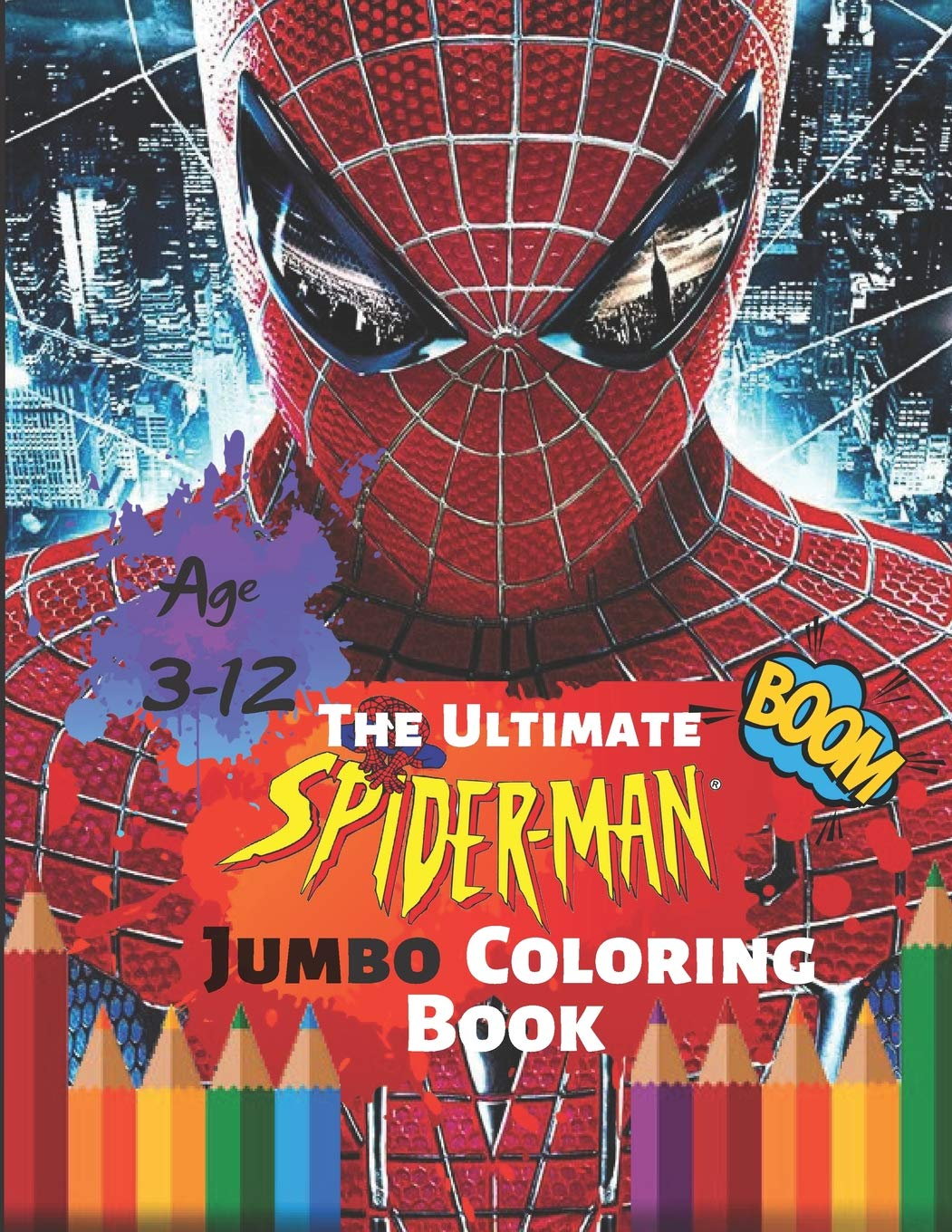 The Ultimate Spider-man Jumbo Coloring Book Age 3-12 Boom ...