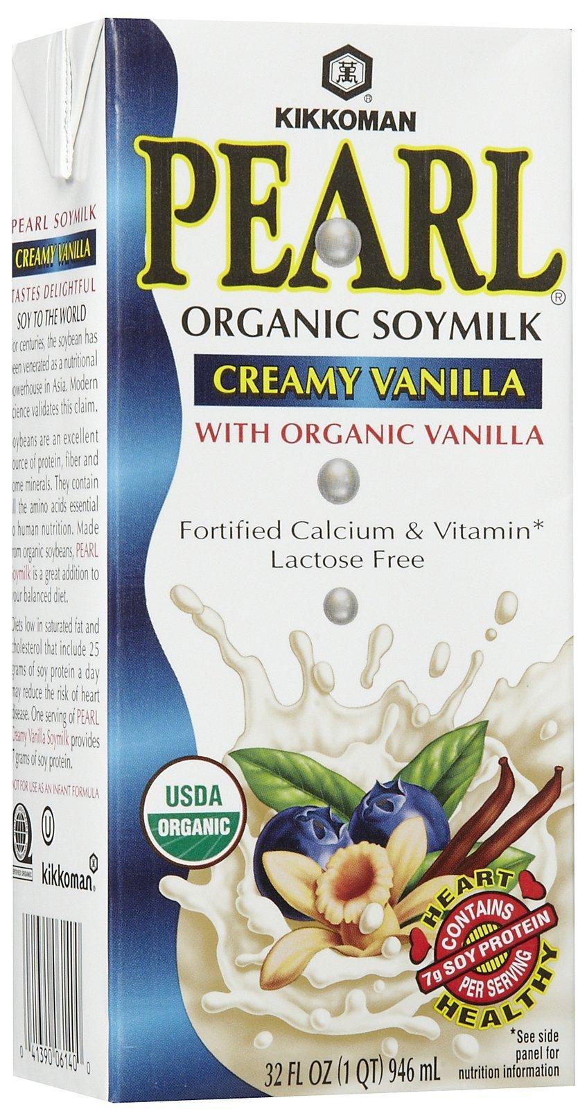 Kikkoman Organic Soy Milk - Pearl Creamy Vanilla - 32 oz by Kikkoman