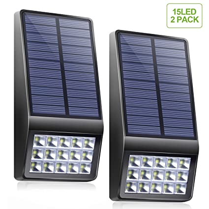 Solar lights outdoor xinree 15 led solar powered lights dim mode solar lights outdoor xinree 15 led solar powered lights dim mode with motion sensor light aloadofball Images