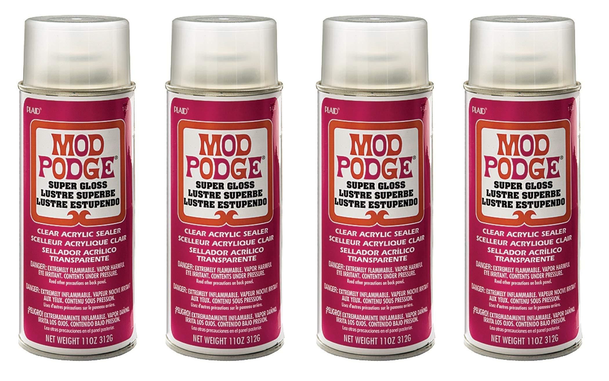 Mod Podge Acrylic Sealer (11-Ounce), 1450 Super Gloss (Fоur Paсk) by Mod Podge (Image #1)