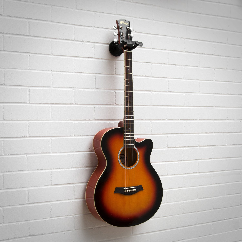 Tiger - Soporte de pared para guitarra (2 piezas): Amazon.es: Instrumentos musicales