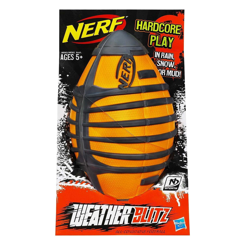 Amazon Nerf N Sports Weather Blitz All Conditions Football Orange Toys & Games