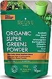Next Gen U | Organic Super Greens Powder 150g | Vegan Green Smoothie Detox Juice Supplement | Proven Energy Booster | Over 20% Protein | Maca Matcha Wheatgrass Acai Flaxseed | Focus & Immune Function