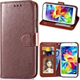Galaxy S5 Case, LANOU Leather Case Samsung Galaxy S5 Wallet Cover Protective Case for Samsung S5