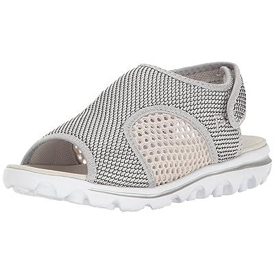 Propet Women's TravelActiv Ss Sandal, Silver/Black, 10 2E US | Sport Sandals & Slides