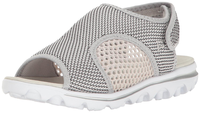 Propet Women's TravelActiv Ss Sandal B01IODBQXO 7.5 2E US|Silver/Black
