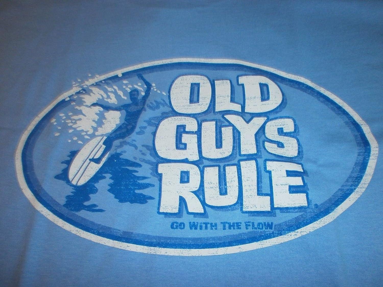 Old Guys Rule Go With The FlowサーフボードサーフフィンLongboard S/SサイズM Tシャツ B0793JPFQD