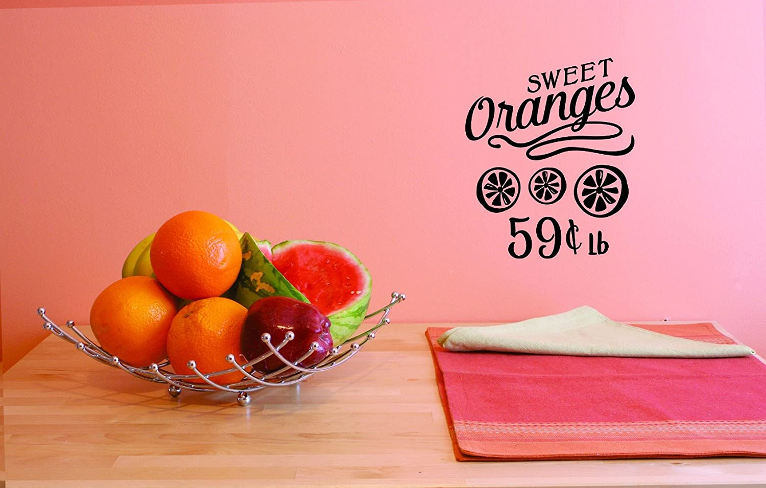 Design with Vinyl JER 1813 1 1 Hot New Decals Sweet Oranges 59 Cents Lb Wall Art Size 12 inches x 18 inches Color 12 x 18 Black