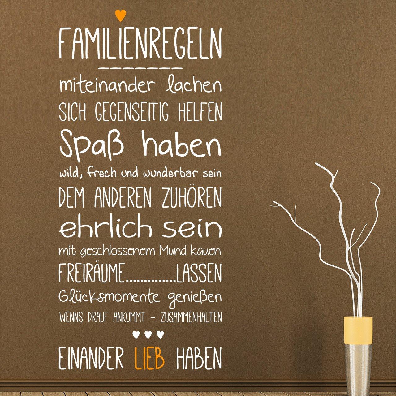 DESIGNSCAPE® Wandtattoo Familienregeln mit Herz 64 x 140 cm (B (B (B x H) Farbe 1  weiss DW801511-M-F5 B01EHMNDWS Wandtattoos & Wandbilder b280d4
