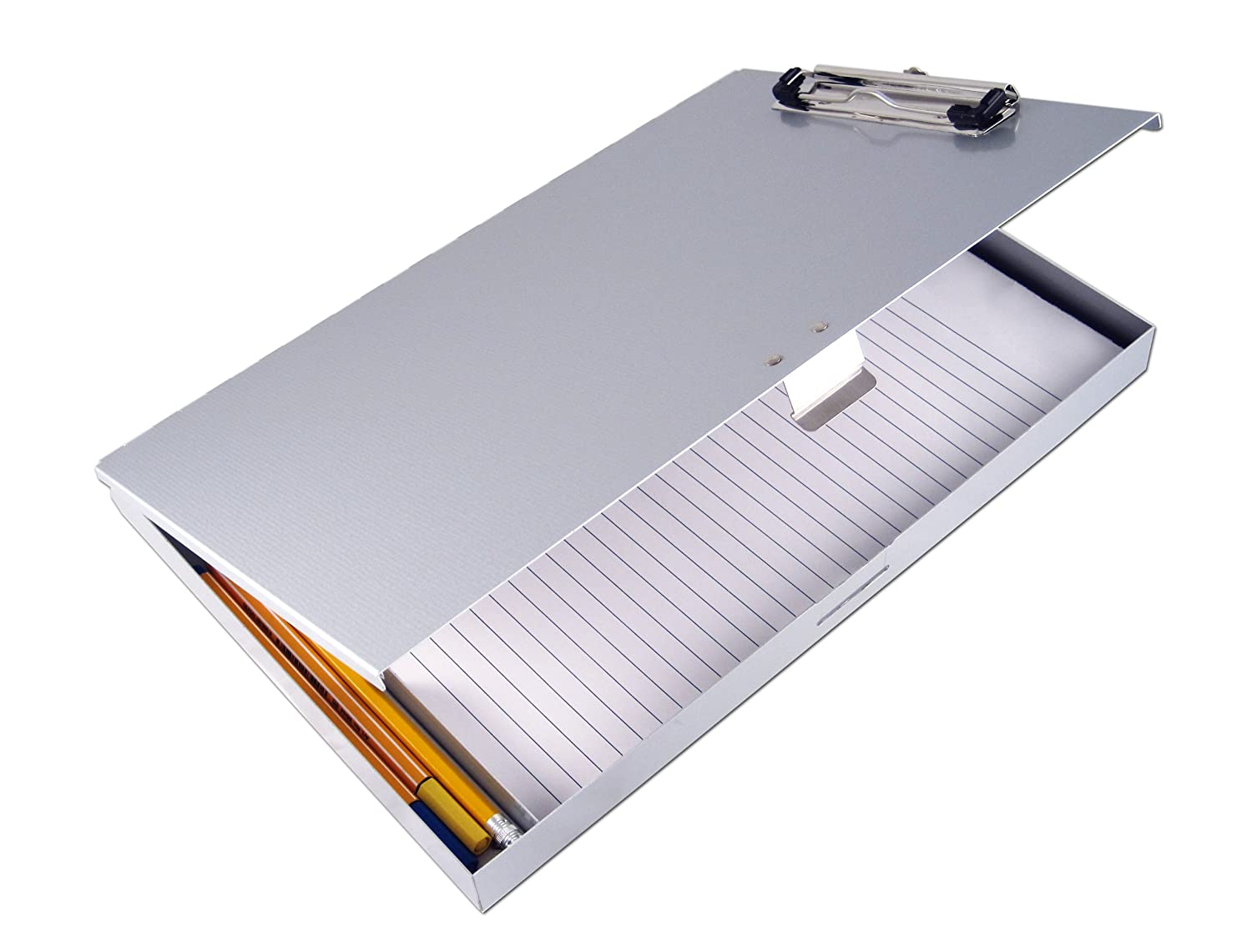 Saunders Recycled Aluminium Tuff-Writer Storage Clipboard, Letter Size, Silver, 45300